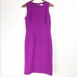 Boss Purple Sleeveless elegant midi Dress size 8